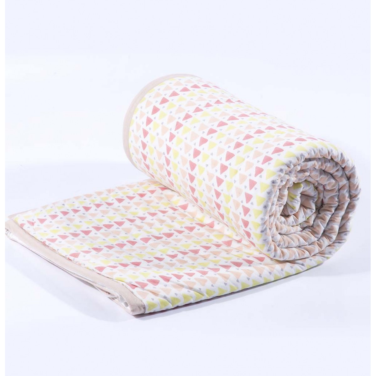 Geometry pink single quilt