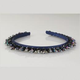 Midnight Sapphire Crystals Headband