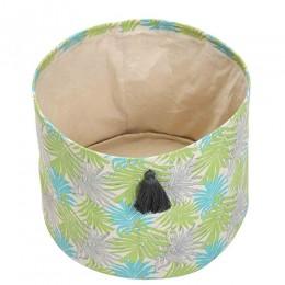 Mint Foliage Printed Storage Baskets