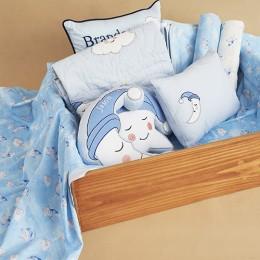 Moon Decorative Pillow Blue