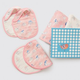 New Beginnings - Organic Muslin Gift Box (Celestial - Pink) - With Pillow