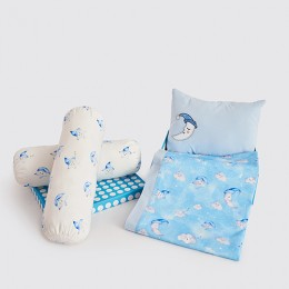 Night Night Crib Gift Set (Celestial - Blue) - With Quilt