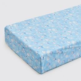 Organic Celestial Blue Crib Sheet