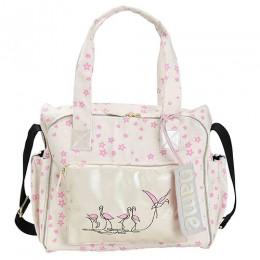 Organic Printed Flamingo Diaper Bag