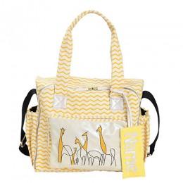 Organic Printed Giraffe Diaper Bag