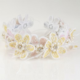 Pastel Florets Lace Headband