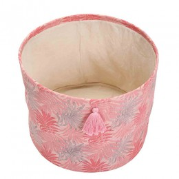 Pink Foliage Printed Storage Baskets