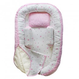 Pink Hearts Baby Nest