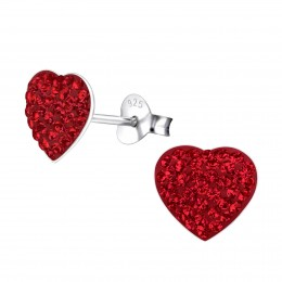 Red Crystal Heart Earring