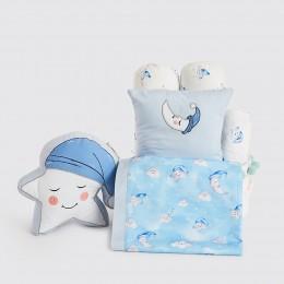 Rockabye Baby Crib Gift Hamper (Celestial - Blue) - With Dohar