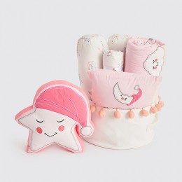 Rockabye Baby Crib Gift Hamper (Celestial - Pink) - With Quilt