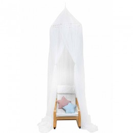 Sheer mosquito net cot canopy