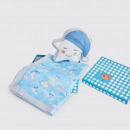 Snuggle Time Crib Gift Set (Celestial - Blue) - With Dohar