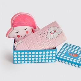 Snuggle Time Crib Gift Set (Celestial - Pink) - With Dohar