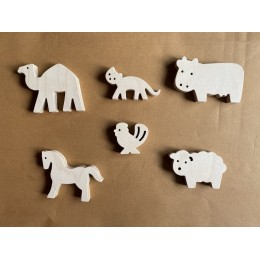 Wooden Animals Figurines Barn Collection