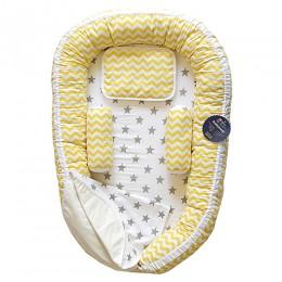 Yellow Chevron Baby Nest