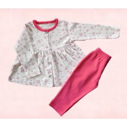 Cotton Top and Legging set- flowers and butterfly