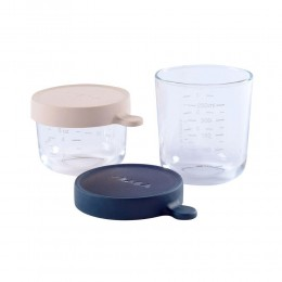 Set of 2 Glass Conservation Jars - 150/250 ml