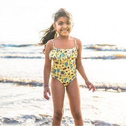 Cool Yellows Girls Swimsuit