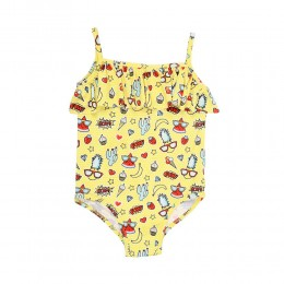 Cute as a Panda Girls Swimsuit