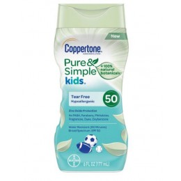 Coppertone Kids Pure and Simple Botanicals Sunscreen Lotion SPF 50