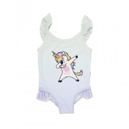 Unicorn Dab Girls Swimsuit