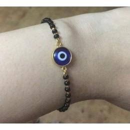Gold and Blue Traditional Turkish Evil Eye Nazariya