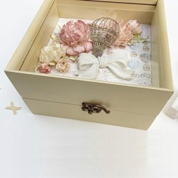 Personalised Wooden Memory Box - Pink