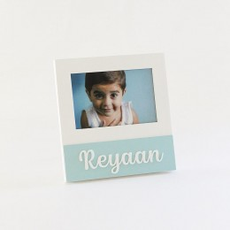 Personalized Square Frame - Blue