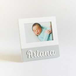 Personalized Square Frame - Grey