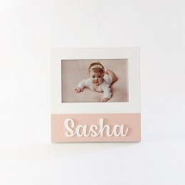 Personalized Square Frame - Pink