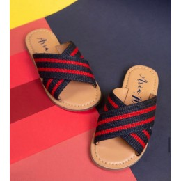 Red and Blue Solid Flipflops