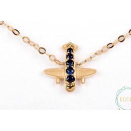 Sapphire Studded Gold Bracelet(Boys) - Nazariya