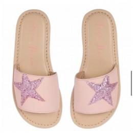 Starry Big Pink Embellished Flipflops