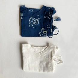 Unisex Organic Newborn Bag - Zoo And Essential White Angrakha