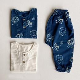 Unisex Organic Zoo Bag - Zoo and White Kurta + Zoo Pants