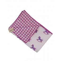 Lakhdi Ki Kathi Pink Purple Hand Block Print Hand Quilt