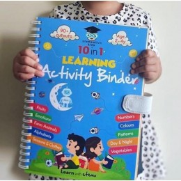 10 in 1 Learning Activity Binder for Kids