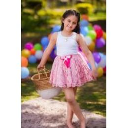 Pink Rose Skirt Set