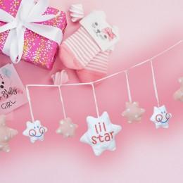 Peachy Pink Stuffed Star Bunting