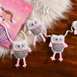 Pink Owl bunting for Baby