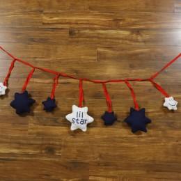 Red n Blue Stuffed star bunting