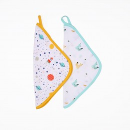Baby Explorer Reversible Organic Wash Cloth - 2 pack