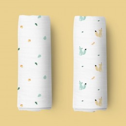 Baby Squirrel Organic Swaddle - 2 pack