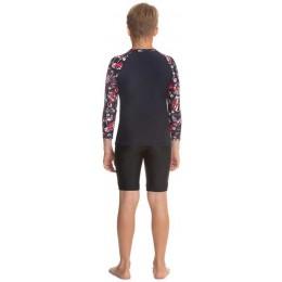 Speedo Glitchamp Allover Long Sleeve Rashguard T-shirt - Jr