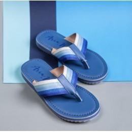 Blue Solid Flipflops