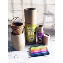 PLANTABLE PENS & PENCIL GIFT BOX - Mini Grow Kit (cylinder box)