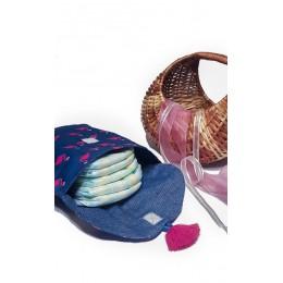 Diaper Tote Bag - Stroller - Caribean Flamingoes