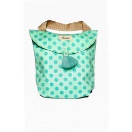 Diaper Tote Bag - Stroller - 80's Polka