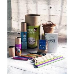 PLANTABLE PENS & PENCIL GIFT BOX - Mega Grow Kit (cylinder box)